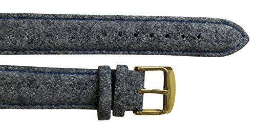 UHRTRACHT - Wechselarmband Filz mit Gold, Quick Release - Für 40mm Trachtenuhren. Für Uhren von Uhrt
