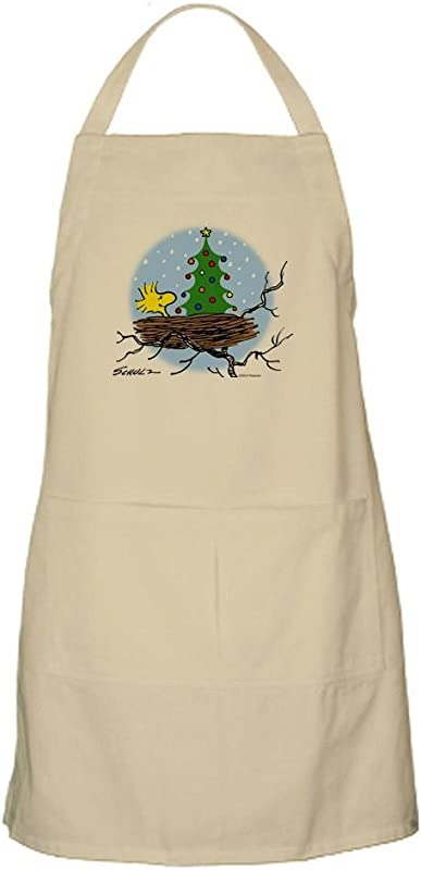 CafePress Woodstock Christmas Apron Kitchen Apron With Pockets Grilling Apron Baking Apron