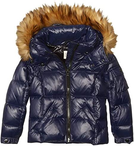 S13 Girls Toddler Faux Fur Mogul Down Puffer Marine 2 product image
