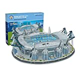 Nanostad, Puzzle 3D Estadio Etihad Original de Manchester City (3885), Multicolor