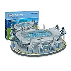 Exciting 3D Nanos tad puzzle featuring one of UK's most famous stadiums - Eithad, the home ground of the Manchester City Football team The new Eithad Stadium 3D puzzle can be recreated in spectacular colour and detail in around three-five hours witho...