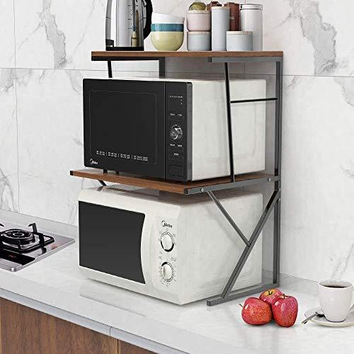 Microondas Horno Almacenamiento De Madera Tienda De Cocina Contador De Cocina Spice Rack Desktop Printer Estantería Para La Oficina De La Cocina