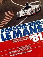 Le Mans 1981 Race Car Classic Motorsport 金属板ブリキ看板警告サイン注意サイン表示パネル情報サイン金属安全サイン