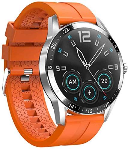Reloj Inteligente con Monitor de Frecuencia Cardíaca, Recuento de Pasos, Contador de Calorías, Monitor de Sueño, Pantalla en Color T de 1,3 Pulgadas,Orange