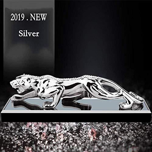 WJSW Skulptur Mode Gold Panther Figuren Miniaturen Geometrische Metall Leopard Statue Auto parfüm dekor Weinschrank Wohnaccessoires, b
