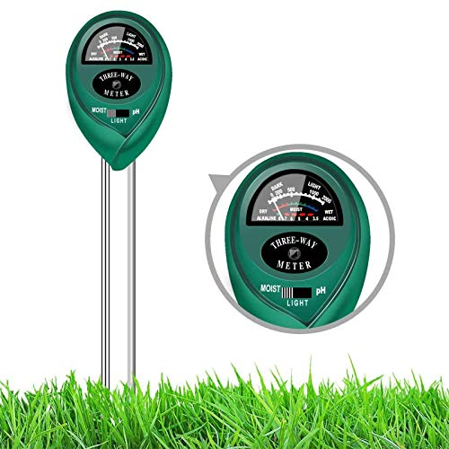 Soil Test Kit pH Moisture Light Tester