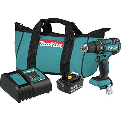 Makita XFD061-R 18V LXT 3.0 Ah Cordless Lithium-Ion Compact Brushless 1/2 in. Drill Driver Kit (Renewed)