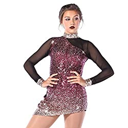 Rose Unstoppable Ombre Sequin Mesh Dance Costume