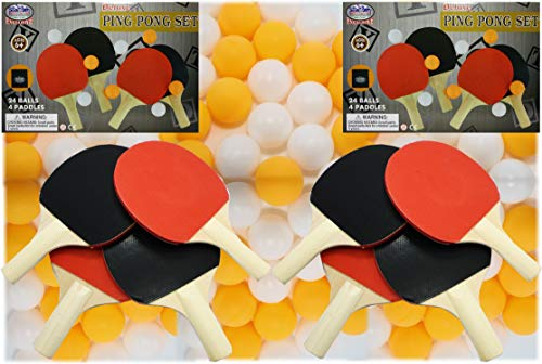 Find Cheap Matty's Toy Stop Deluxe Table Tennis (Ping Pong) Refill Set with 8 Paddles, 48 Balls (24 ...