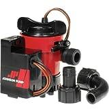 Johnson Pump 05703-00 Cartridge Combo Automatic Submersible Bilge Pump - 12V, 750 GPH , Red