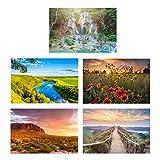 Painted Landscape Postcards / 25 Decorative Postcards / 6' x 4' Inspiring Notecards