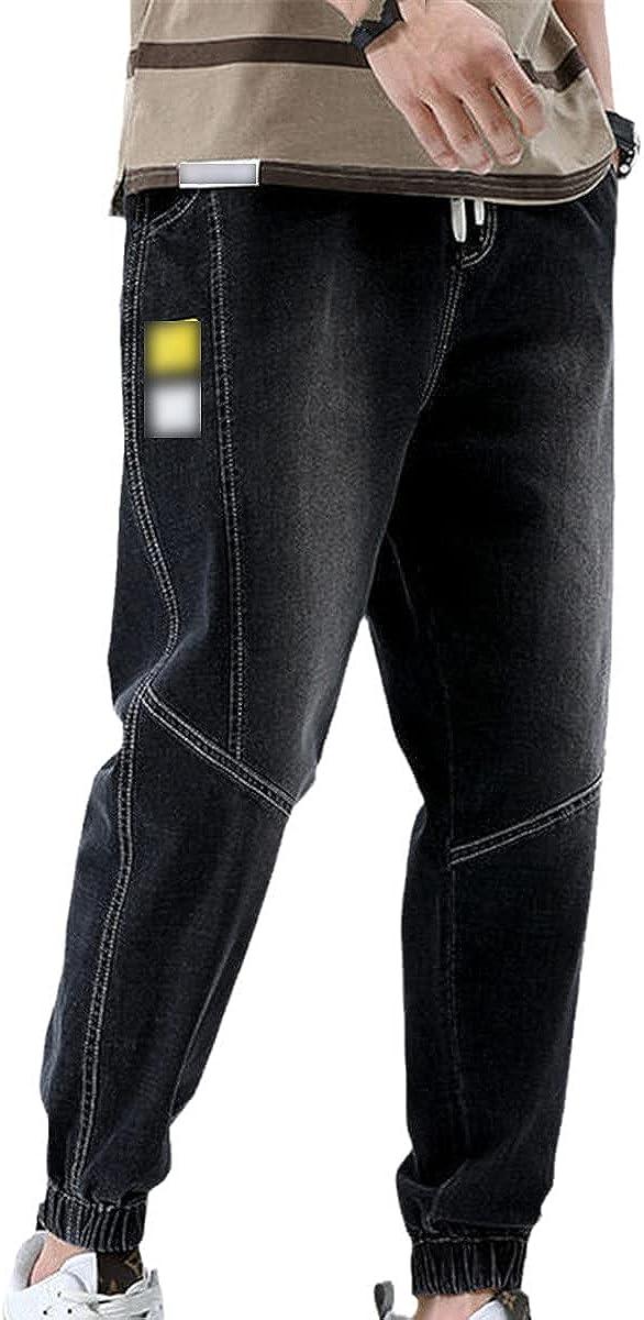 CACLSL Fashion Style Men's Jeans Spring and Autumn Elastic Waist Harem Pants Male Korean Fashion Casual Denim Trousers