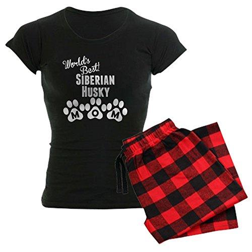 CafePress Worlds Best Siberian Husky Mom Pajamas Womens Novelty Cotton Pajama Set, Comfortable PJ Sleepwear