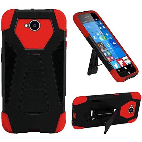 HR PTTSTND-NOK650-BKRed Holster für Microsoft Lumia 650, kabellos, Schwarz/Rot