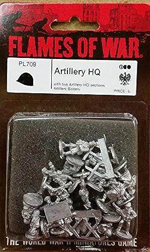 40% de descuento Flames Flames Flames of War PL709 Artillery HQ by Battlefront Miniatures  precio al por mayor