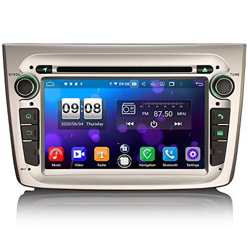 ERISIN 7 pollici Android 10.0 Autoradio per Alfa Romeo Mito Supporto Carplay Android Auto DSP GPS Navigatore satellitare Bluetooth Wifi DAB + OBD2 TPMS 4 GB RAM + 64 GB ROM