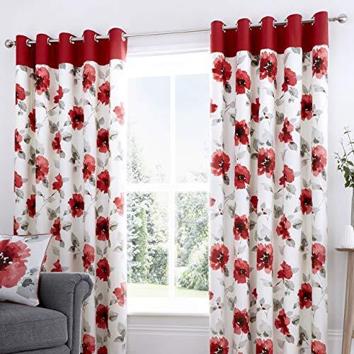 röda gardiner ikea