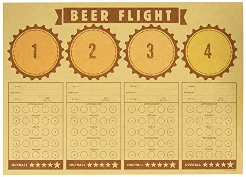 Creative Converting Cheers & Beers Beer Flight Placemats Party Supplies, 14