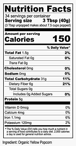 Product Image 2: Anthony's Organic Yellow Popcorn Kernels, 3 lb, UnPopped, Gluten Free, Non GMO