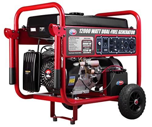 All Power America APGG12000GL 12000 Watt Dual Fuel Portable Generator with Electric...