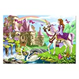 """Melissa & Doug Fairy Tale Castle Floor Puzzle (Easy-Clean Surface, Promotes Hand-Eye Coordination, 48 Pieces, 24"""" L x 36"""" W, Great Gift for Girls and Boys - Best for 3, 4, 5, and 6 Year Olds)"""