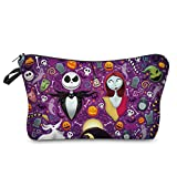 Cosmetic Bag MRSP Makeup bags for women,Small makeup pouch Travel bags for toiletries waterproof The Nightmare Before Christmas(52310)