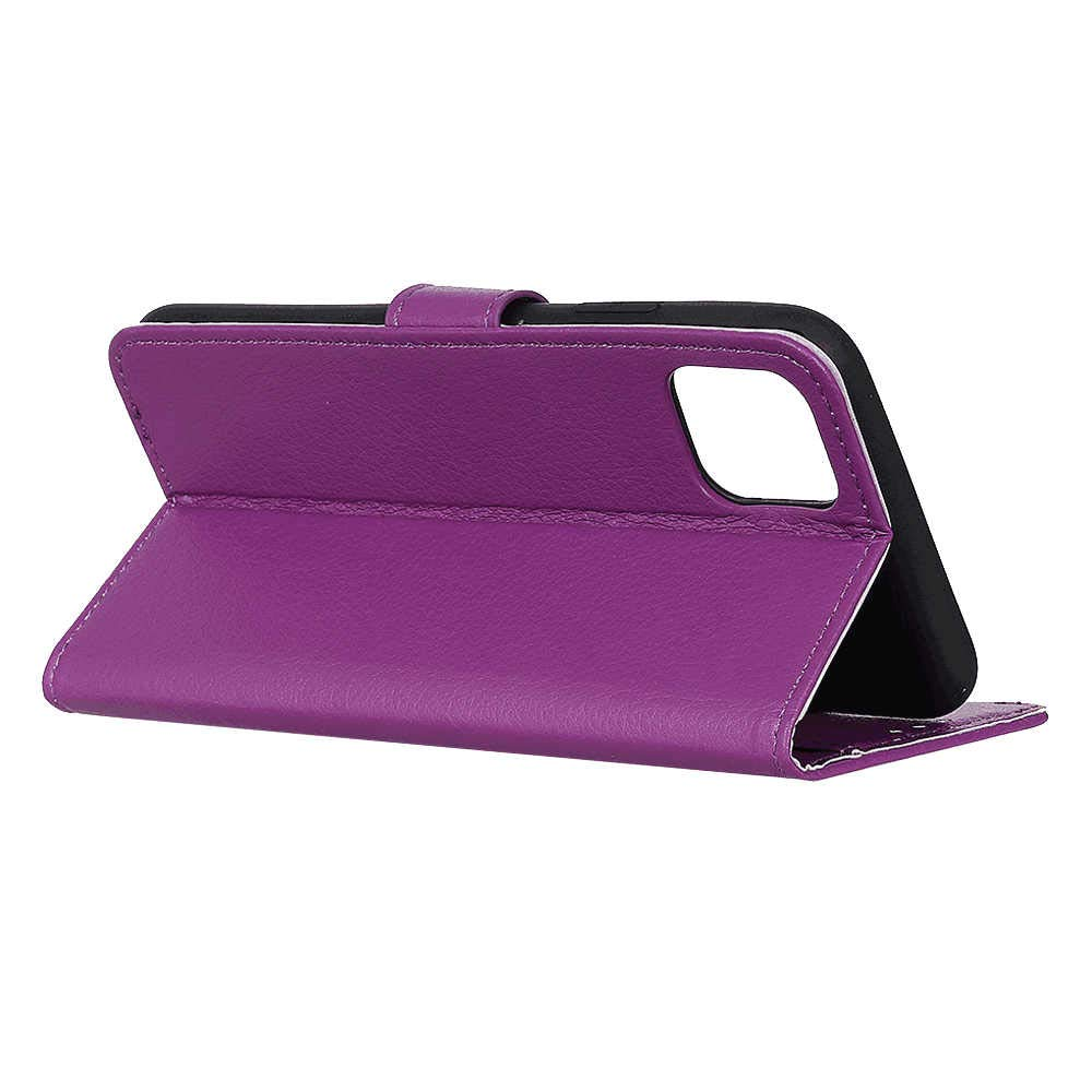 Flip Case Fit for iPhone Xs Kickstand Card Holders Extra-Protective Purple Leather Cover Wallet for iPhone Xs