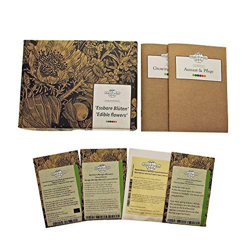 Essbare Blüten - Samen-Geschenkset mit 4 aromatischen Sorten für Salate, kalten Platten & Süßspeisen