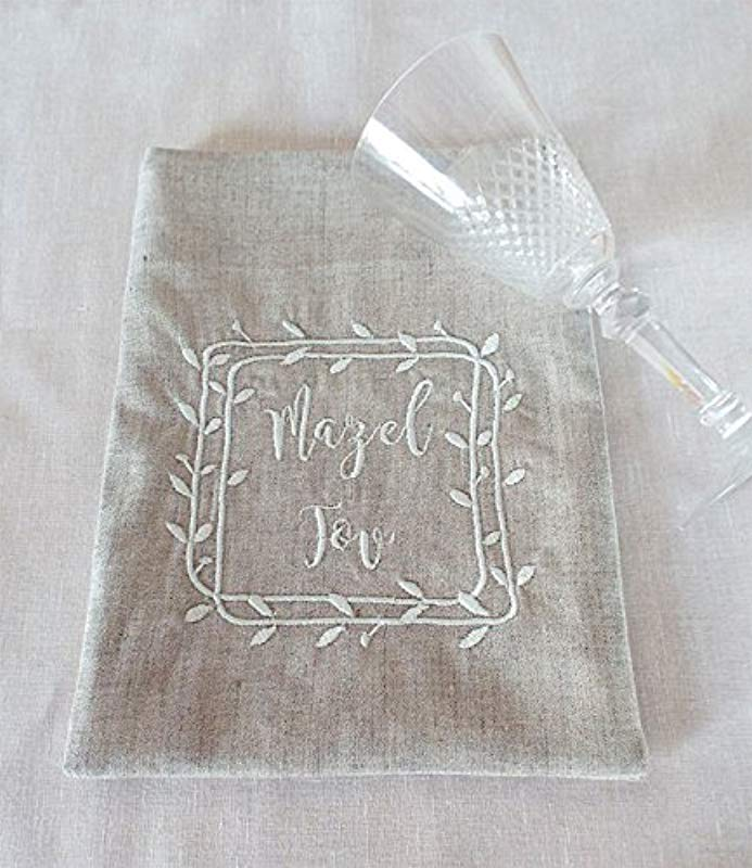 Three Generations Jewish Wedding Breaking Glass Embroidered Smash Glass Pouch Breaking Glass Bag Groom Jewish Wedding Chuppah Groom Smash Bag Jewish Couple Gift