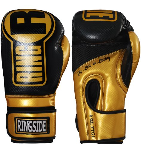 Ringside Apex Boxing Kickboxing Muay Thai Training Gloves Gel Sparring Punching Bag Mitts, L/XL,...