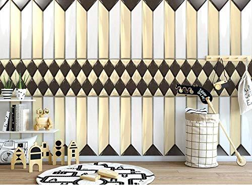 Klantspecifiek behang van 3D-muurschildering modern onberispelijk lederen geometrische zachte pakket-achtergrond wanddecoratie behang 250 cm x 175 cm.