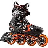 K2 Inline Skate VO2 90 Speed BOA M Inlineskate Homme, Noir/Orange, 9.5