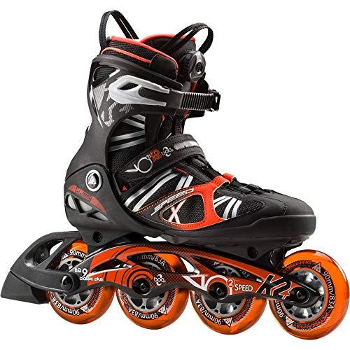 K2 Herren Inline Skate VO2 90 Speed BOA M Inlineskate, Schwarz/Orange, 13