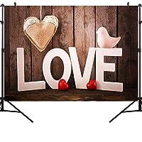 GooEoo 7×5FTバレンタインデーのテーマ絵布写真の背景コンピュータープリントビニールの背景VDD005
