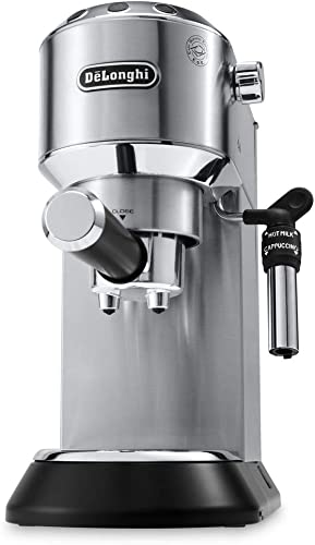 de`longhi dedica ec685.m macchina da caffè espresso manuale e cappuccino caffè in polvere o in cialde
