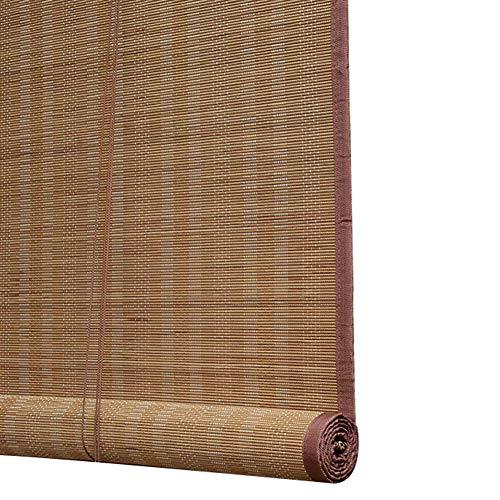 WYAN Cortinas enrollables for Interiores o al Aire Libre Ventana de la Puerta de jardín del Patio, bambú Roll Up a ciegas con Gancho for Arriba, 85cm / 105cm / 125cm / 145cm de Ancho para Ventana/PU