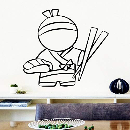 sanzangtang Schöne nudel wandkunst Aufkleber Moderne wandaufkleber Vinyl Aufkleber für Wohnzimmer Firma Schule büro 45x49cm