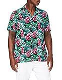 find. Camicia Hawaiana a Manica Corta Uomo, Blu (floreale)., S, Label: S