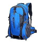 FAMILIZO 40L al Aire Libre Que va de excursión Impermeable de Nylon del Recorrido del Equipaje Mochila Mochila Bolsa (Azul)