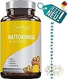 Redfood Nattokinase 100mg NEU mit MAGENSAFTRESISTENTEN KAPSELN 2000 FU 290 Kapseln Vegan hohe Bioverfügbarkeit ohne Magnesiumstearat ohne K1 K2 mit Analyse Zertifikat