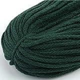 JUNICON Cuerda de algodón natural trenzado de 8 hebras, 5 mm, cuerda de macramé de algodón de 98 yardas, para...