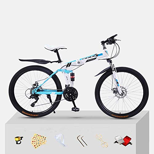 Pliuyb Trafficker Mountain Bike Bicycle Adult Folding 20/24/26 Inch Double Shock-Absorbing Off-Road Speed Racing Boys and Girls Bicycle (Color : 20inch, Size : 24speed)