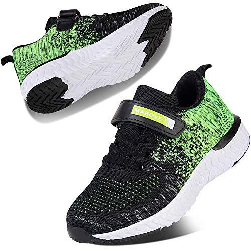 Kyopp Laufschuhe Kinder Turnschuhe für Mädchen Jungen Sportschuhe Kinderschuhe Outdoor Sneakers Klettverschluss Atmungsaktiv Unisex