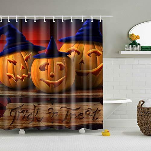 N / A Rideau de Douche Halloween Effrayant Rideaux occultants en Polyester imperméable Rideau de Douche imperméable et Anti-moisissure A5 180x200cm