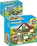 PLAYMOBIL® Country 4481 70133 - Juego de 2 invernaderos y caseta de granja
