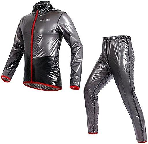 QIXFU Combinaisons d'équitation imperméables à l'eau d'équitation Costumes d'imperméable Costumes d'équitation de Bicyclette Maillot Longues pour Homme