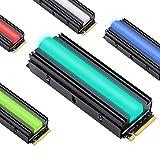 EZDIY-FAB 12V RGB SATA NVMe NGFF M.2 Refrigerador SSD de disipador térmico para 2280 M.2 SSD, con Almohadilla térmica (SSD no incluida)