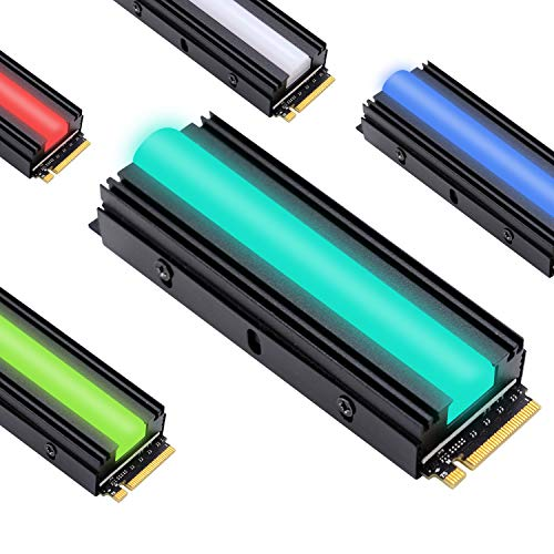 EZDIY-FAB 12V RGB SATA NVMe NGFF M.2 Kühlkörper SSD Kühler für 2280 M.2 SSD, mit Thermal Pad (SSD Nicht enthalten)