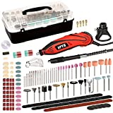 Rotary Tool, SPTA Rotary Tool Kit 1.3 amp 10000-32000RPM, 6 Variable Speed with 4 Attachments, 388 Accessories, Carrying Case, Multi-Functional for Around-The-House and Crafting Projects - RT388AC