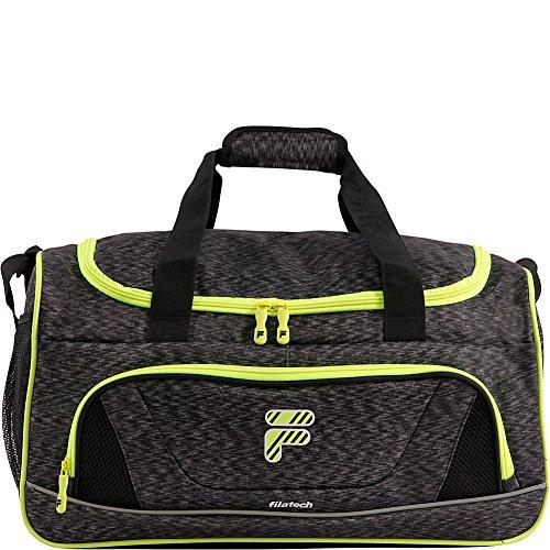 FILA Unisex-Erwachsene Victory 2.0 Gym Sports Bag Tasche für das Fitness-Studio, Grau/Neonlime, Einheitsgröße